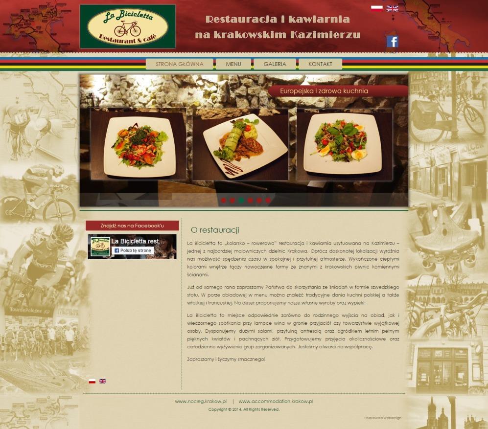 La Biccicletta - Restauracja na krakowskim Kazimierzu