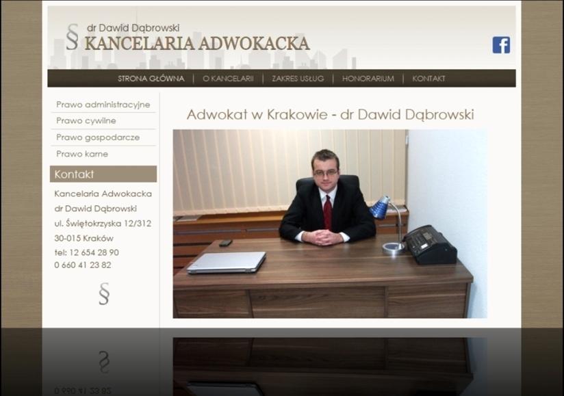 Dawid Dąbrowski - Adwokat w Krakowie